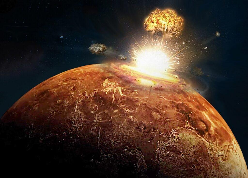 Бомбардировка Венеры астероидом